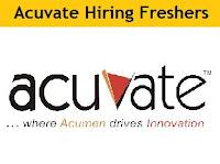 Acuvate Software Walkin Recruitment