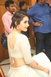 Raashi Khanan looks stunning in Crop Top Deep neck Choli Ghagra Transparent Chunni WOW ~  Exclusive Celebrities Galleries 019