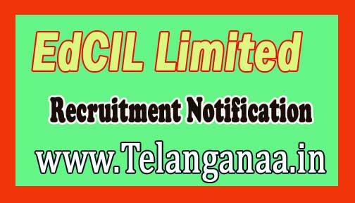 EdCIL Limited Recruitment Notification 2017