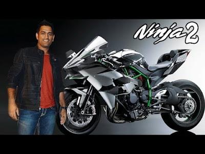 2016 Kawasaki Ninja H2R with mahendra sinh dhoni