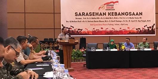 Sarasehan Kebangsaan di Padang, Mahfud: Kedua Pasang Capres Sama-sama Beridiologi Pancasila