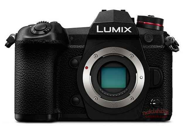 Panasonic Lumix G9, вид спереди