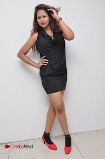 Model Sonia Pictures in Black Dress at Yes Mart Event  0037