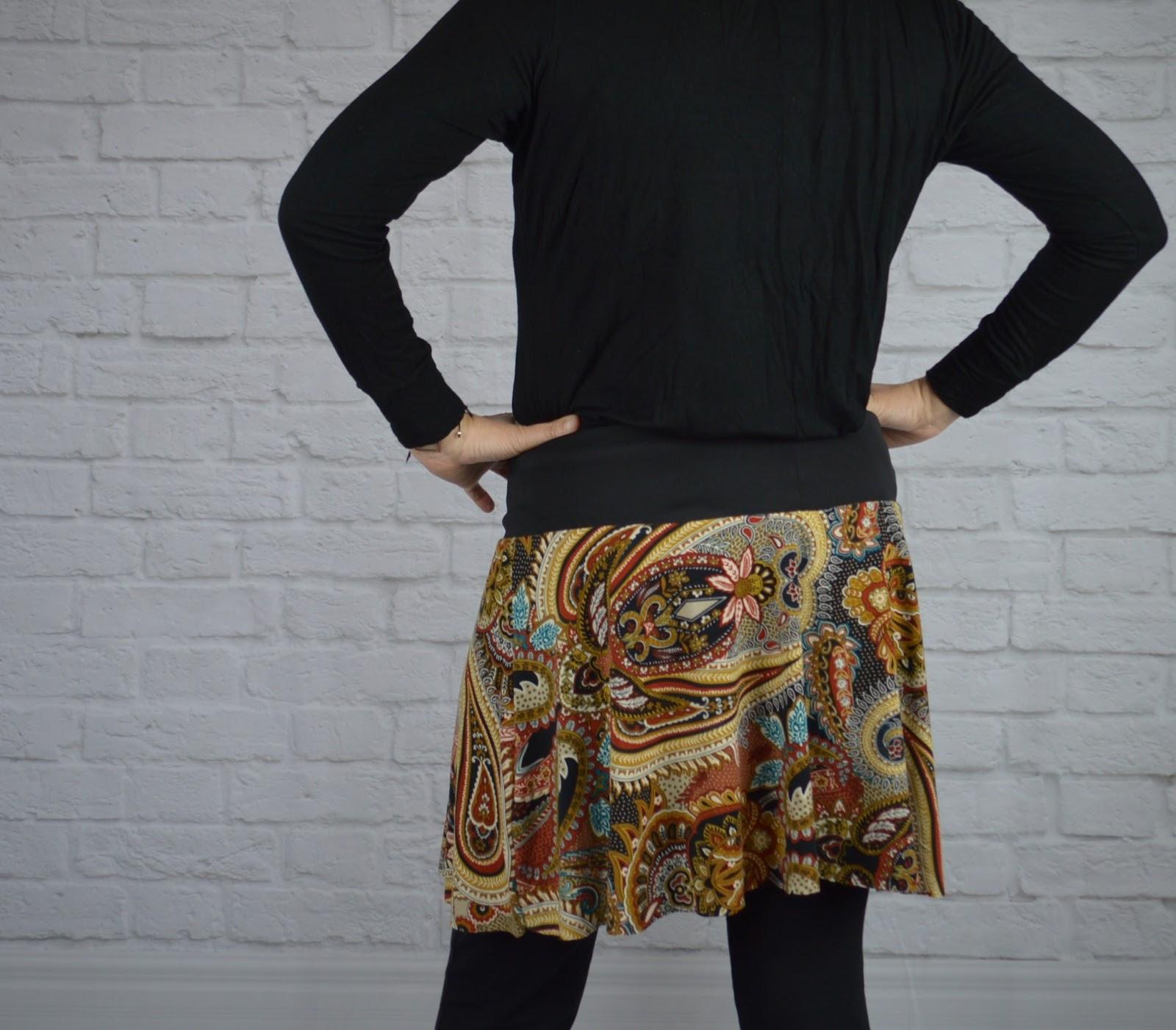 falda handmade uve original estampado étnico