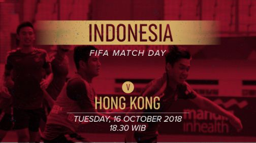 Jadwal Indonesia vs Hong Kong