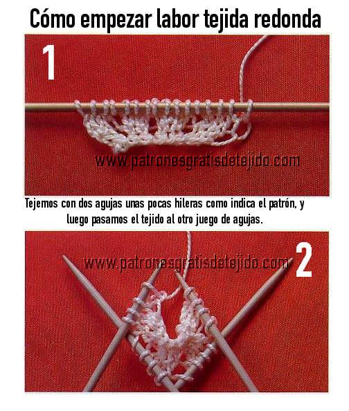 aprendemos a tejer con dos agujas