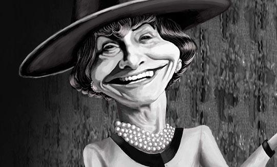 Caricatura, Coco Chanel de Stella Peralta