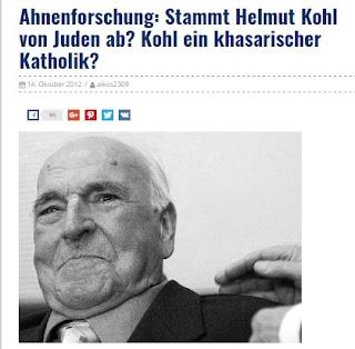 Kohl ein Krypto-Jude und khasarischer Katolik