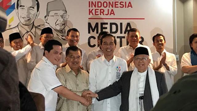 Diketuai Erick Thohir, Ini Susunan Lengkap Tim Kampanye Nasional (TKN) Jokowi-Ma'ruf Amin