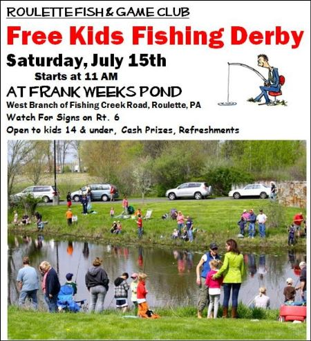 Solomon 39 s words for the wise free kids fishing derby for Free fishing day 2017 pa