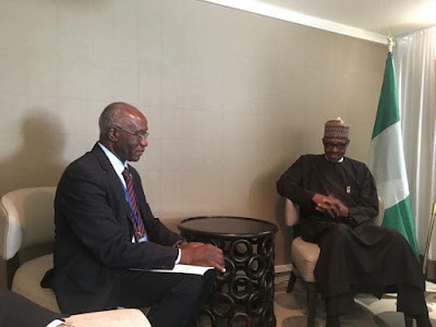 President Buhari Meets First Blackman Elected Senator In Italy