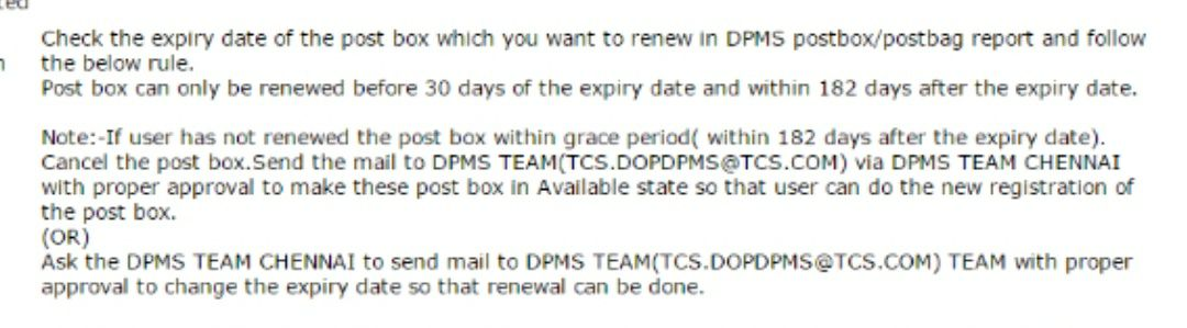 how to renew post box in SAP