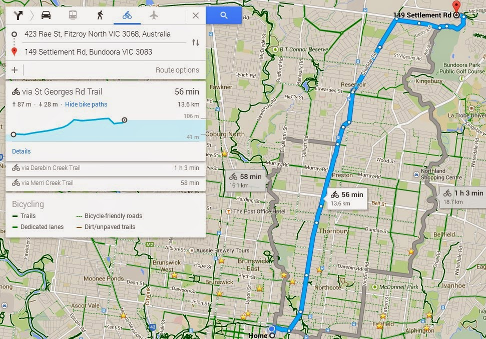 Better By Bicycle: How accurate are Google Maps cycling time ... on google car route, newspaper bike route, ups bike route, google headquarters bikes, google maps, google run route, google walking route,
