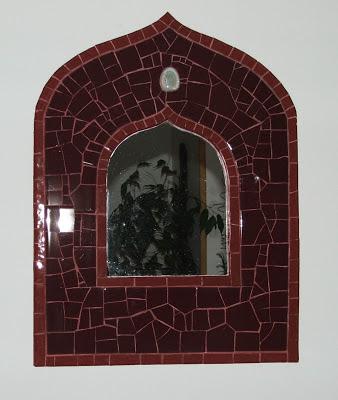 miroir de créateur unique et originale en mosaïque et faïence tout l'univers créatif de séverine peugniez