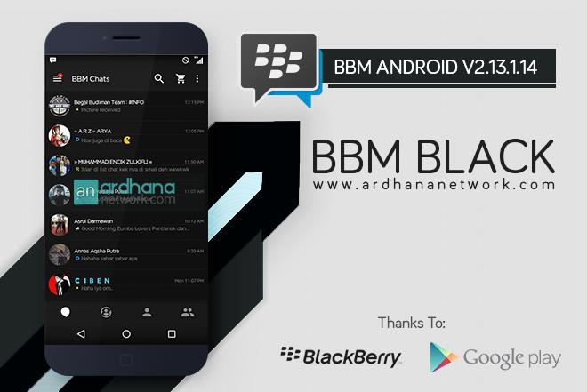 BBM Black V2.13.1.14 - BBM MOD Android V2.13.1.14