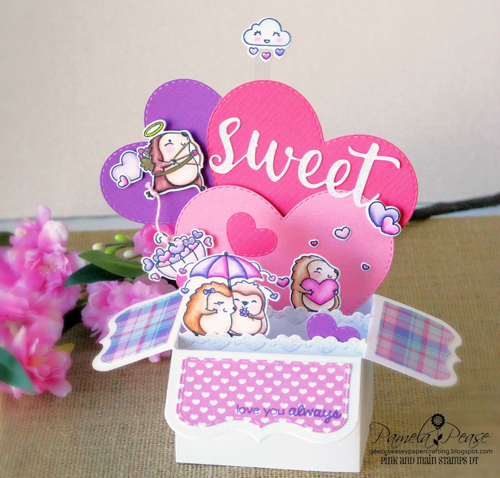 geezypeasey papercrafting: Sweet Love Box Card