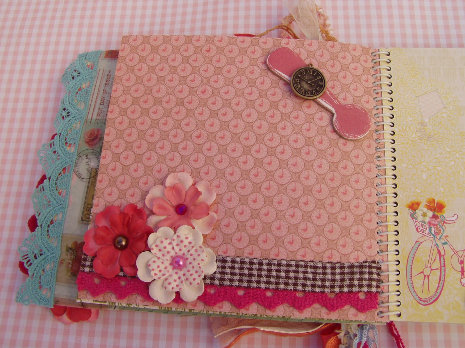 Decorar Album Scrap Chatarra Mini Album Primavera