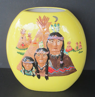 American Indian Decor Vase