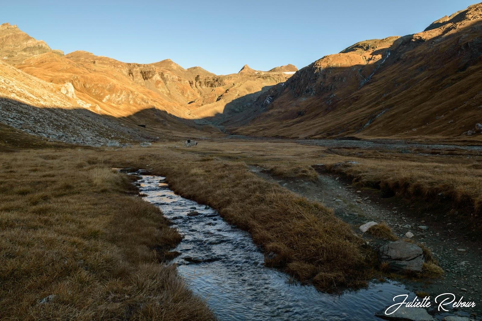 Randonnée en automne dans le Parc National de la Vanoise