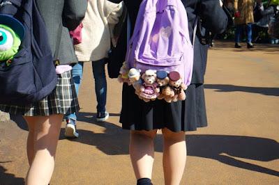 Bag keychains at Tokyo Disneysea Japan