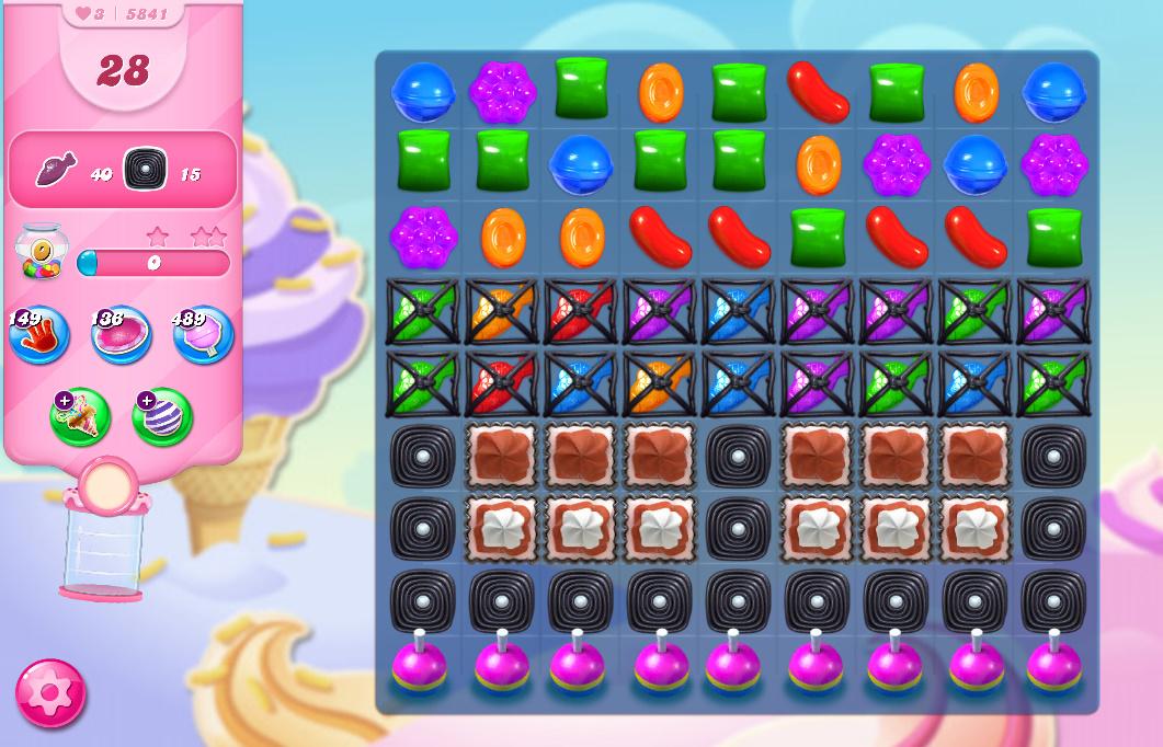 Candy Crush Saga level 5841