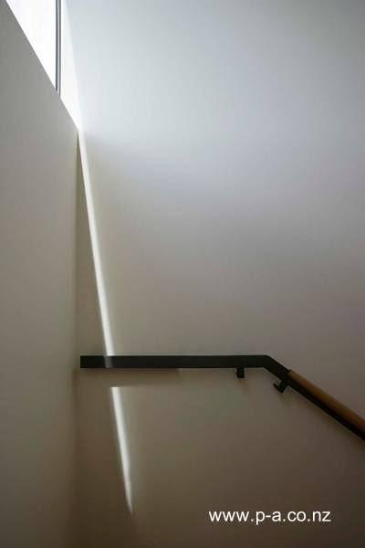 Barandilla de escalera en la planta superior