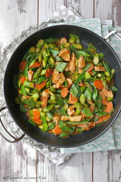 Asiatische Spargelpfanne | Essen | Kochen | Rezept