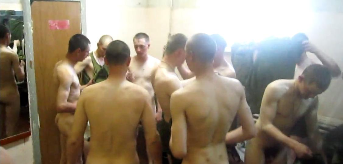 Russian soldiers naked in change room