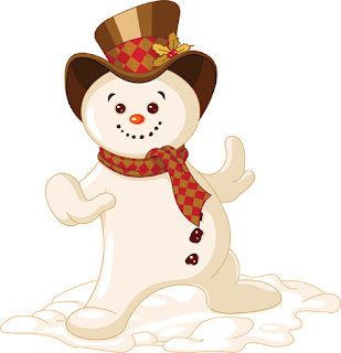 Clipart image of a snowman