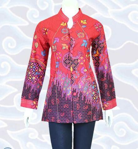 10 Contoh Model Baju Batik Wanita Modern Terbaru 2020