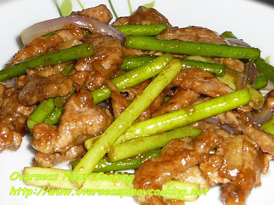 Pork with Garlic Stem Stirfry