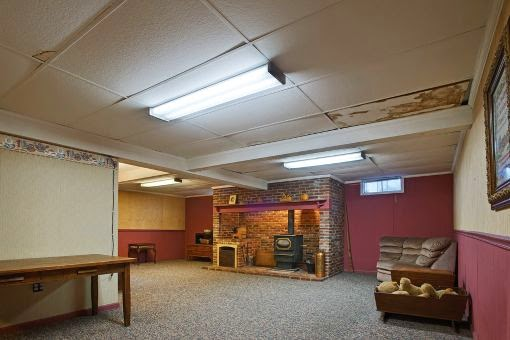 Basement Ceilings {Then And Now}