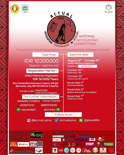 Contest Accounting Tournament in Accrual 2018 di Jakarta