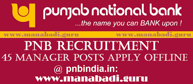 Bank jobs, Punjab National Bank, PNB Mangers Jobs, Bank Recruitment, latest jobs, Govt Jobs