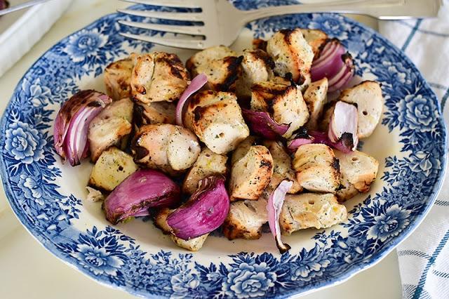 Grilled Marinated Chicken Kebabs