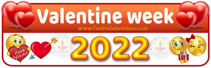 2022 Valentine Week List Calendar, 2022 Valentine Day All Dates & Day