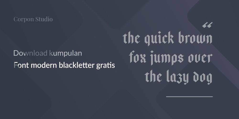 Font Modern Blackletter Grafis
