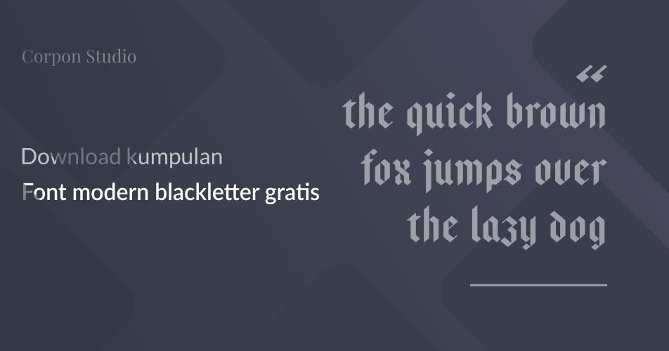 font modern black letter