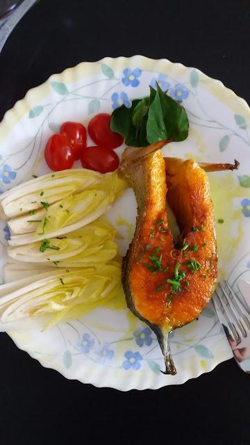 Darnes de truite grillées au curcuma;recette de poisson simple et savoureuse!
