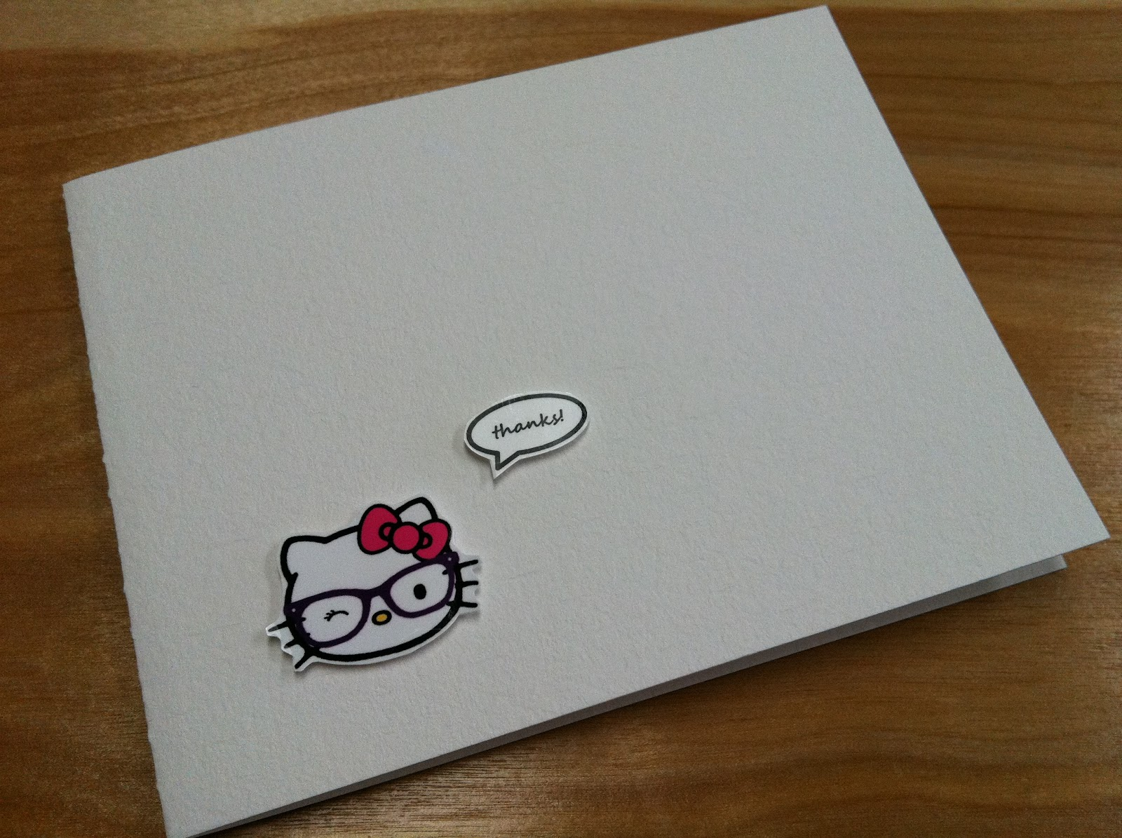 The Contemplative Creative Hello Kitty Thank You Cards