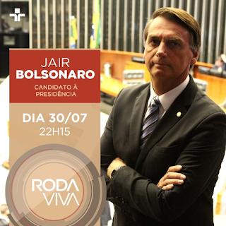 Resultado de imagem para Jair Bolsonaro roda viva