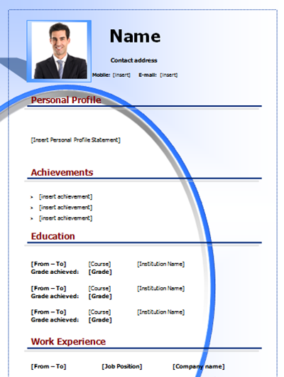 Cv Example To Download Free Editable On Microsoft Word