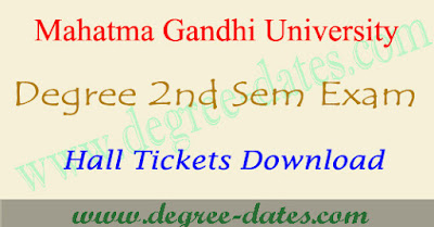 MG University degree 2nd sem hall tickets & ug results 2017