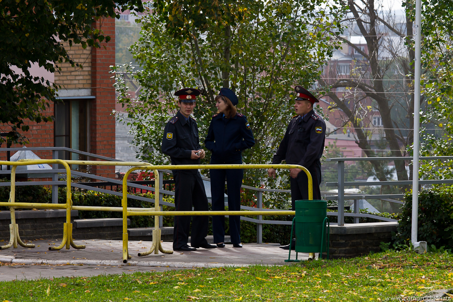 Полиция охраняет митинг коммунистов в Саранске