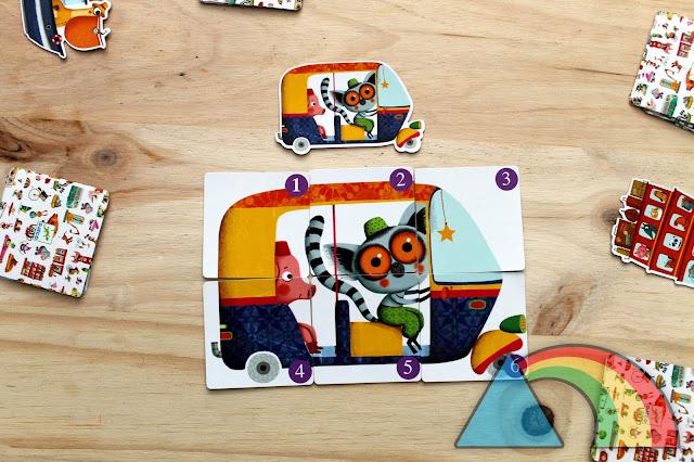 Puzzle completo y fin de la partida del juego Batapuzzle de Djeco