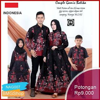 NAG007 Batik Couple Sania Ruffle Jowi Sakura Murah Bmgshop