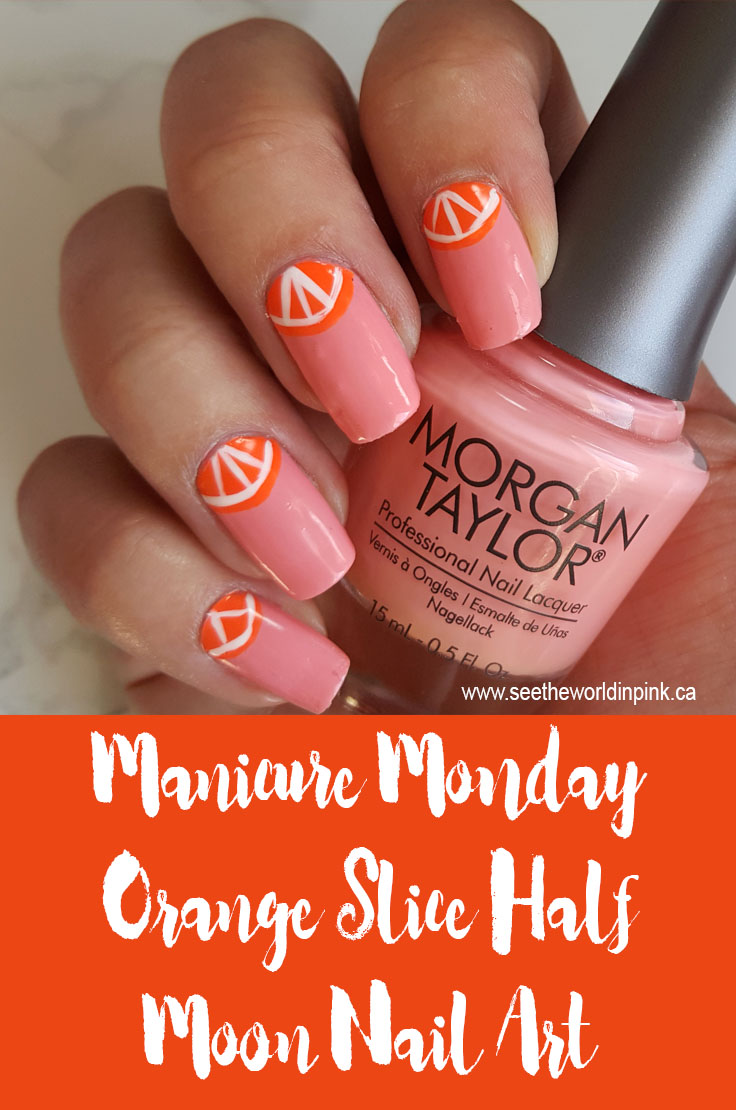 Manicure Monday - Half Moon Fruit Nail Art