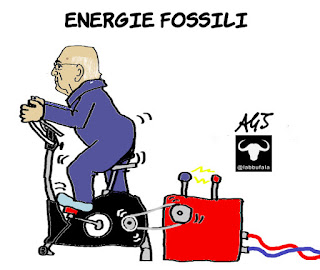 Napolitano, energie fossili, referendum, 17 aprile, astensione, vignetta, satira