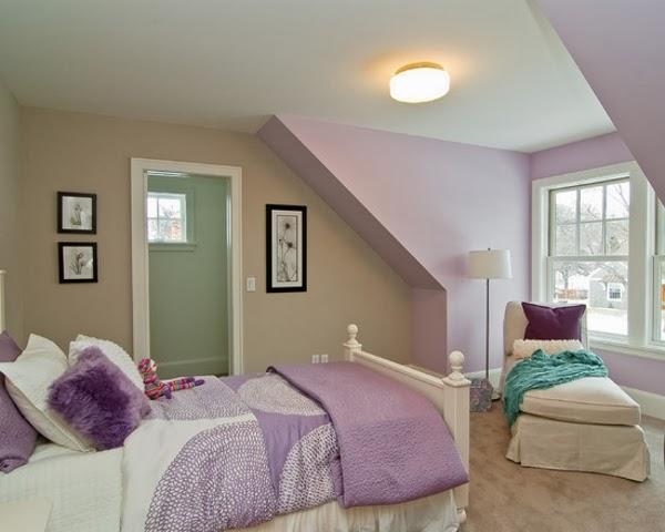 Dormitorios juveniles color lila dormitorios colores y for Paredes focales