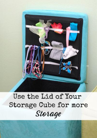 Creative use of a storage cube lid.  anartfulmom.com